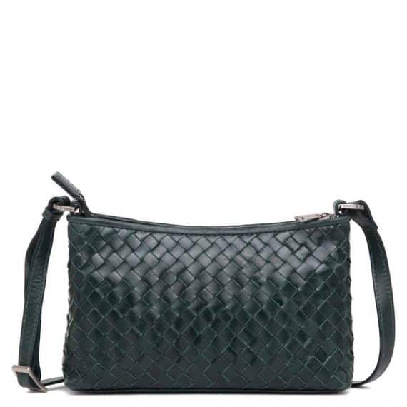 293799 ADAX Bacoli shoulder bag Smilla_green_skulderveske__foran