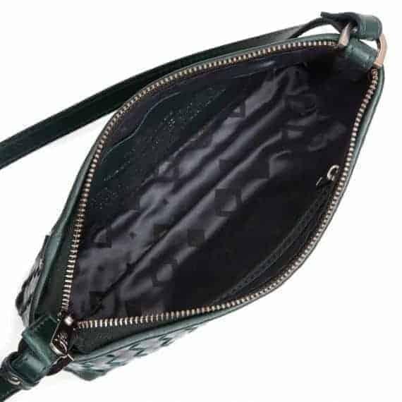293799 ADAX Bacoli shoulder bag Smilla_green_skulderveske__open