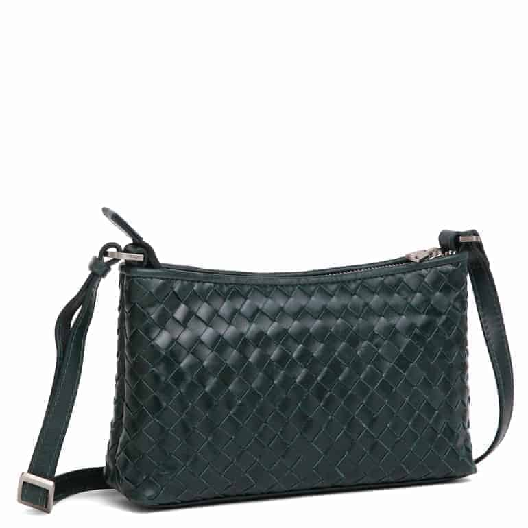 293799 ADAX Bacoli shoulder bag Smilla_green_skulderveske__side