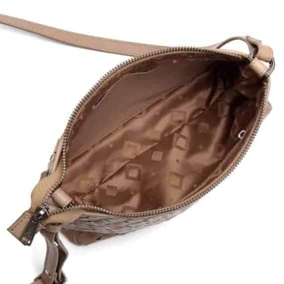 293799 ADAX Bacoli shoulder bag Smilla_latte_skulderveske__innside