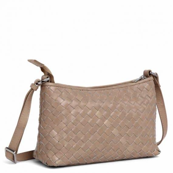 293799 ADAX Bacoli shoulder bag Smilla_latte_skulderveske__side