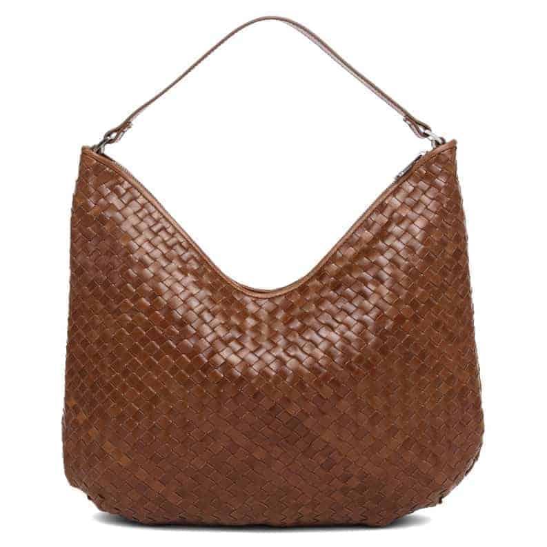 294099 ADAX Bacoli shoulder bag Mindy_brown_brun_skulderveske_foran
