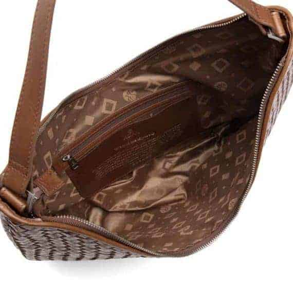 294099 ADAX Bacoli shoulder bag Mindy_brown_brun_skulderveske_open