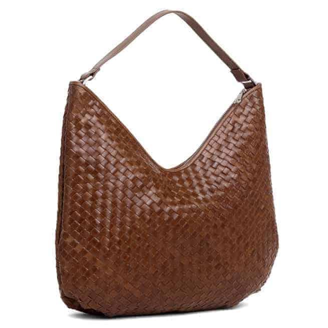 294099 ADAX Bacoli shoulder bag Mindy_brown_brun_skulderveske_side