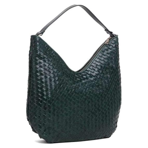 294099 ADAX Bacoli shoulder bag Mindy_green_skulderveske_side