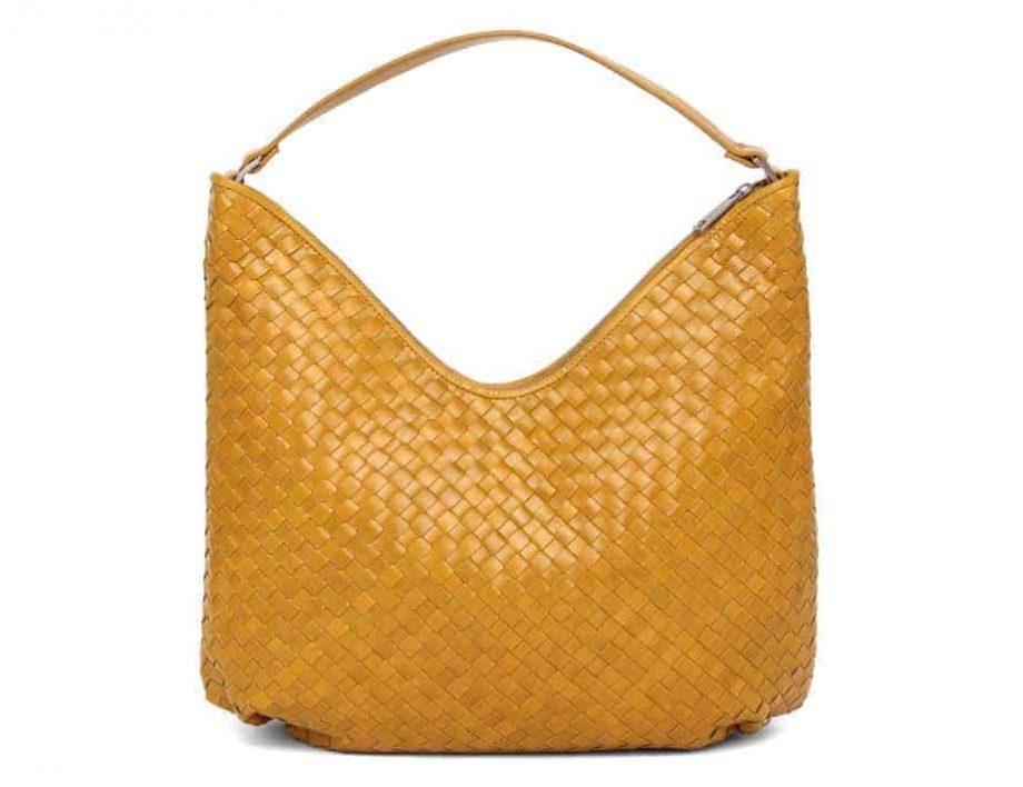 294099 ADAX Bacoli shoulder bag Mindy_gul_mustard_skulderveske_forside