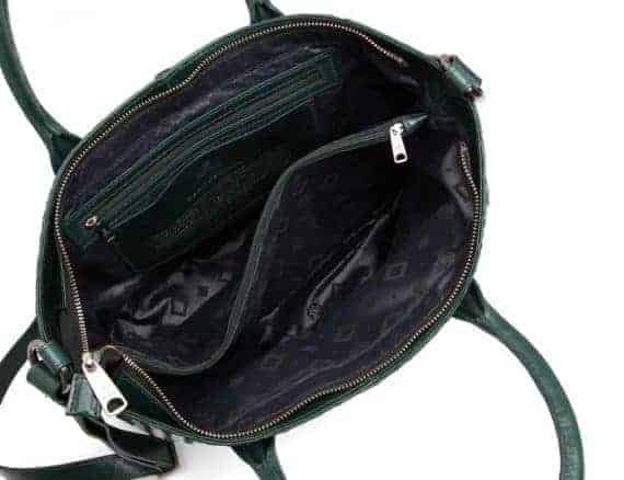 294299 ADAX Bacoli shoulder bag Vilde_green_skulderveske_open
