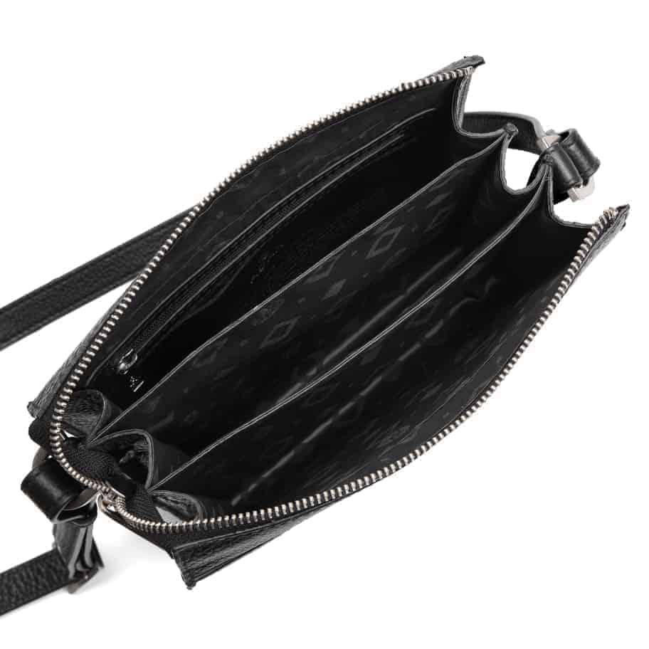294592 ADAX Cormorano shoulder bag Delta - sort open