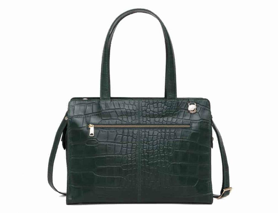 297400 Adax Berlin handbag Vega - grønn bakside