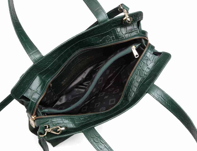 297400 Adax Berlin handbag Vega - grønn open