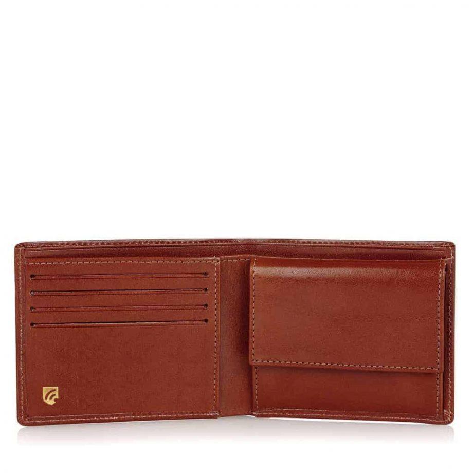42 4288 Castelijn & Beerens - Gaucho - 8 Card Billford Wallet - cognac innside