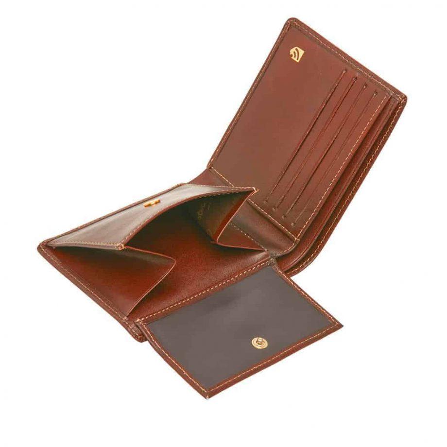 42 4288 Castelijn & Beerens - Gaucho - 8 Card Billford Wallet - cognac innside detaljer