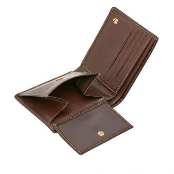 42 4288 Castelijn & Beerens - Gaucho - 8 Card Billford Wallet - mocca helt open innside