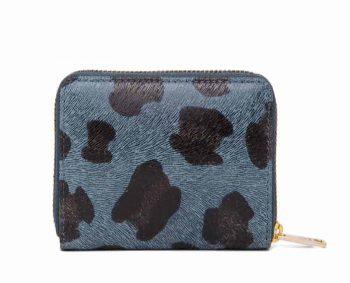 454400 Adax Berlin wallet Cornelia marine leopard forside