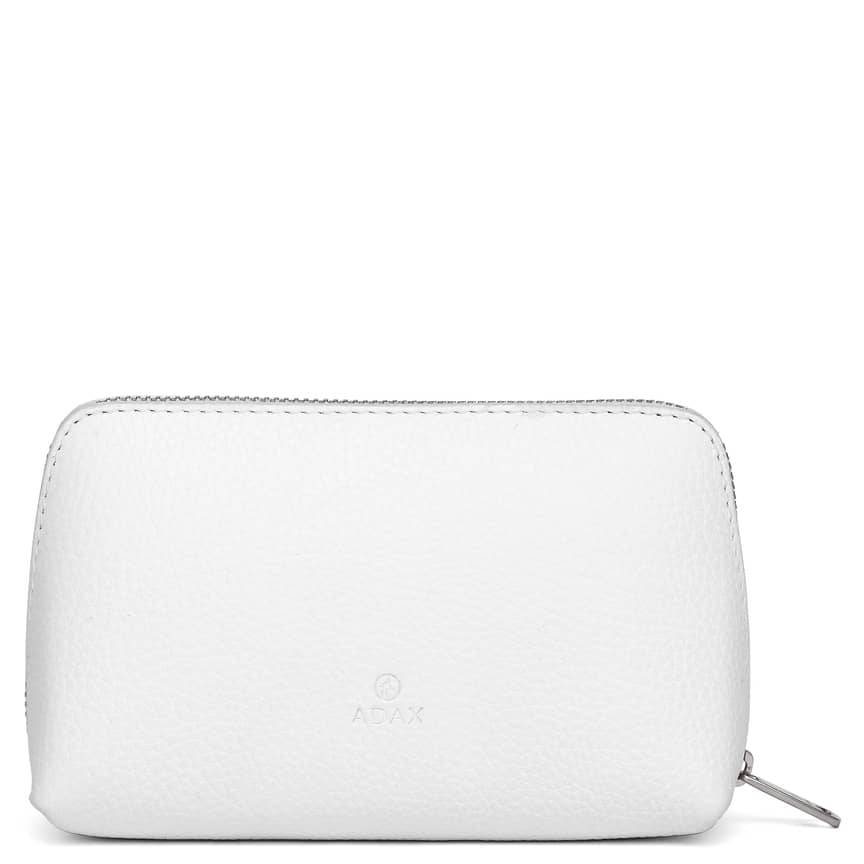 462192 ADAX Cormorano purse Vanilla - hvit forside