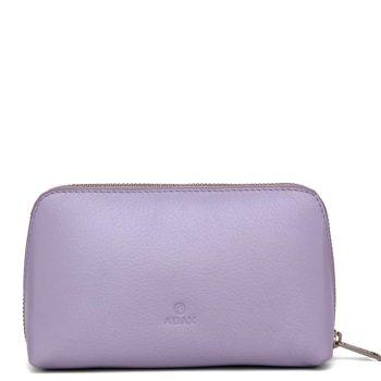 462192 ADAX Cormorano purse Vanilla - light purple forside