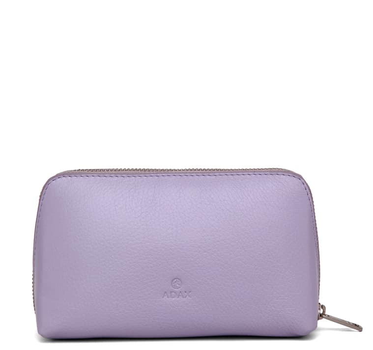 462192 ADAX Cormorano purse Vanilla - light purple forside