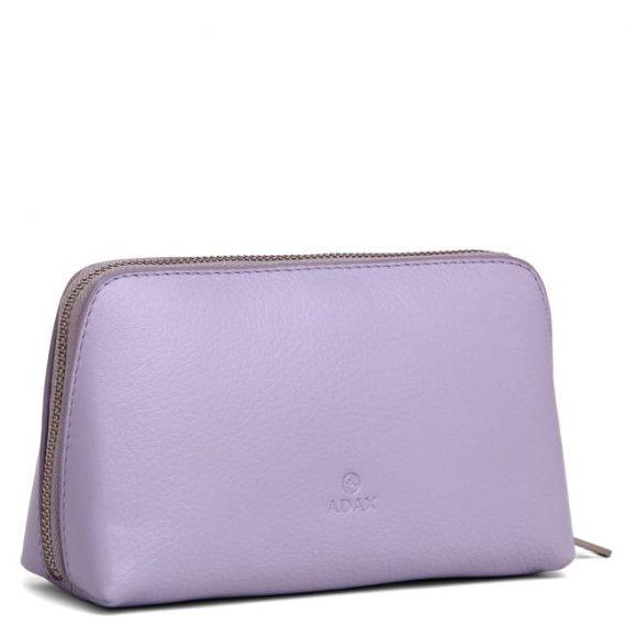 462192 ADAX Cormorano purse Vanilla - light purple side