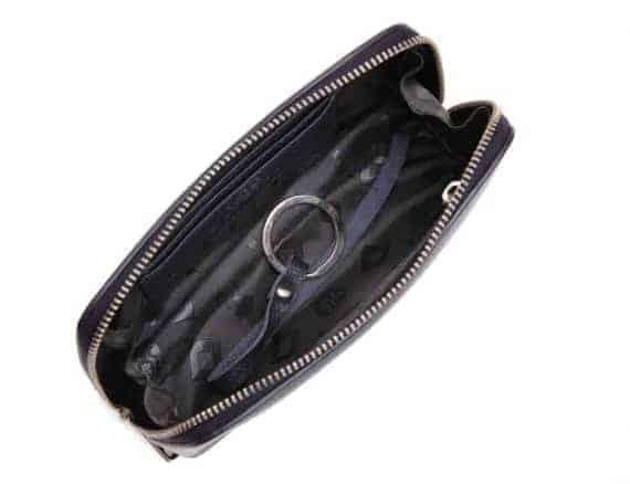 462192 ADAX Cormorano purse Vanilla - navy open