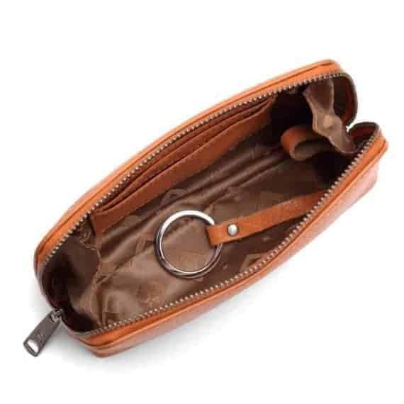 462192 ADAX Cormorano purse Vanilla - peach open