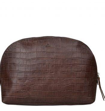 471997 ADAX Teramo Eco Cosmetic Purse Paula Dark Brown Forside