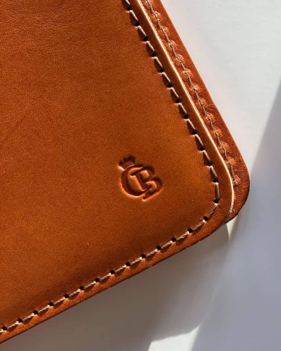 59 6050 Castelijn Beerens Notebook Cover A5 Cognac Detaljer