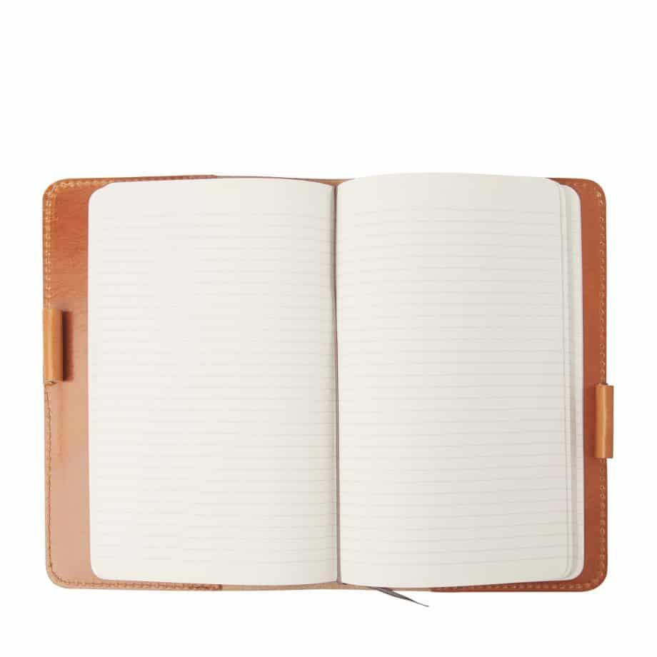 59 6050 Castelijn Beerens Notebook Cover A5 Cognac Innside