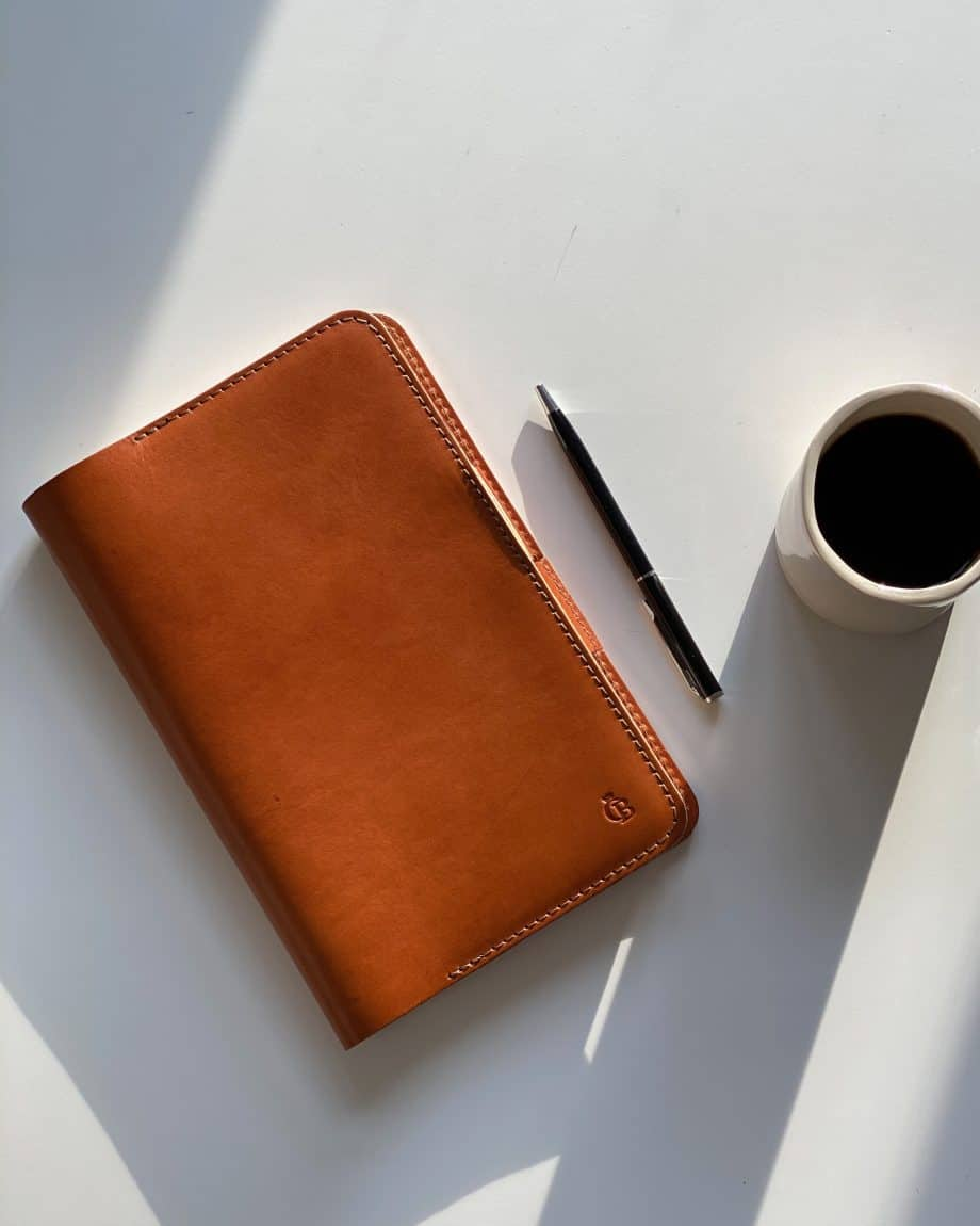 59 6050 Castelijn Beerens Notebook Cover A5 Cognac Lifestyle