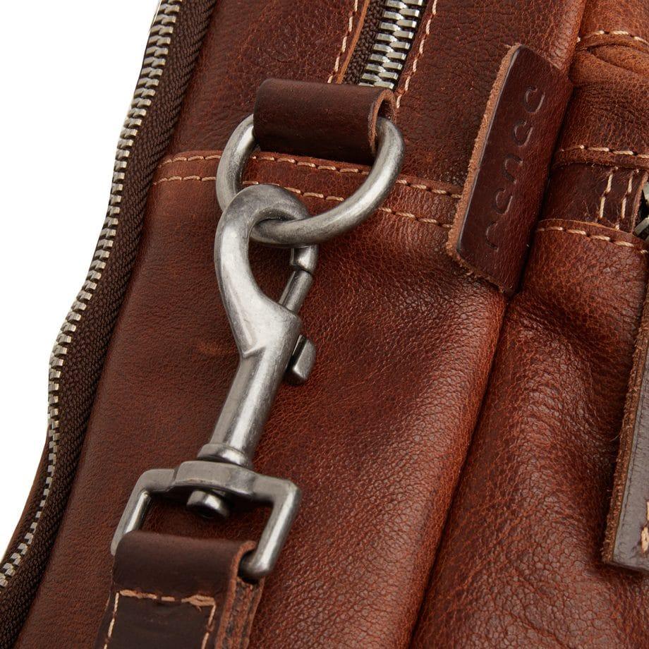 59 9473 Castelijn Beerens Sam Laptop bag light brown detaljer 4
