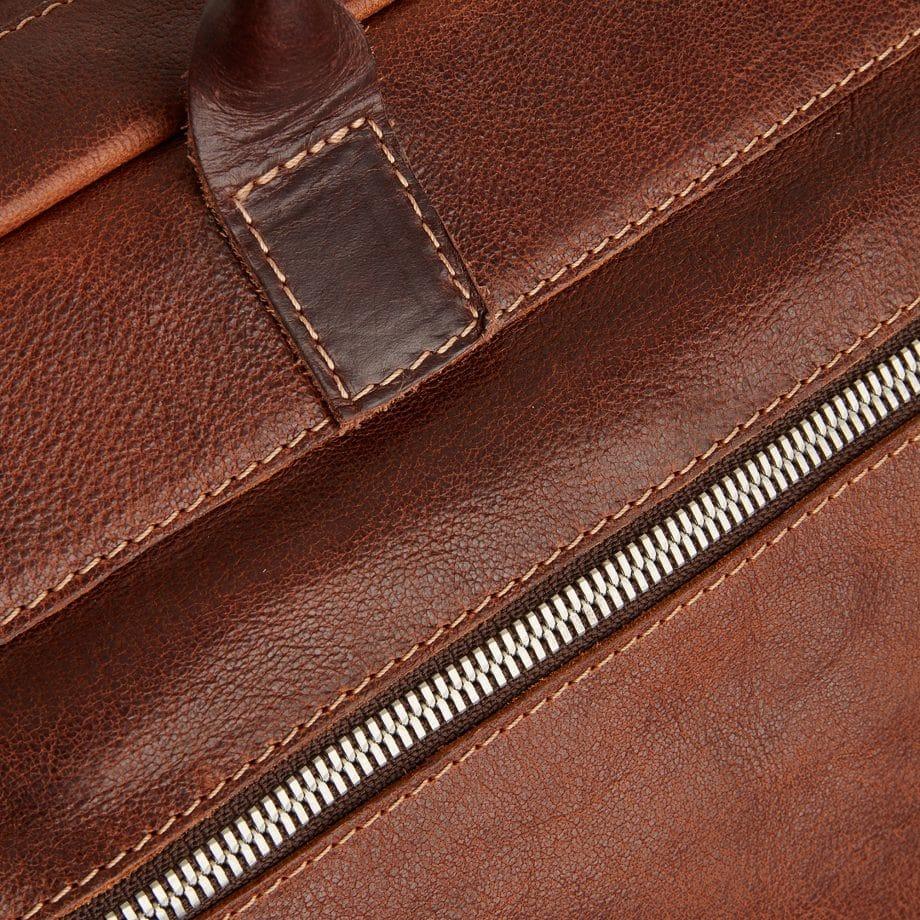 59 9473 Castelijn Beerens Sam Laptop bag light brown detaljer