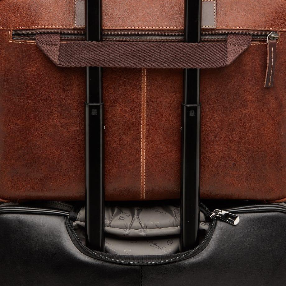 59 9479 Castelijn Beerens Rein laptop bag light brown detaljer