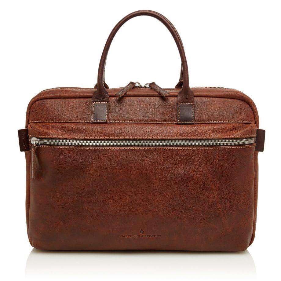 59 9479 Castelijn Beerens Rein laptop bag light brown forside