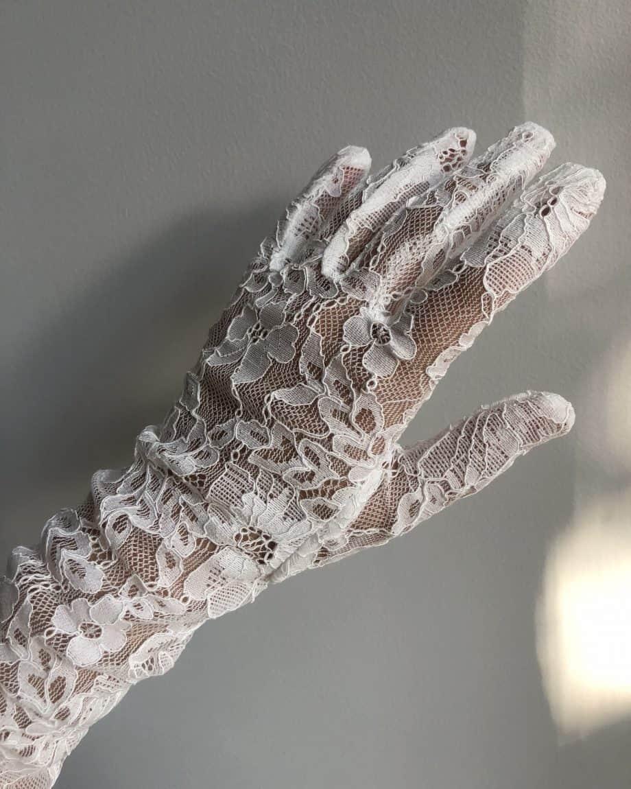 6-2268 DENTS lange selskapshansker - ivory hvit
