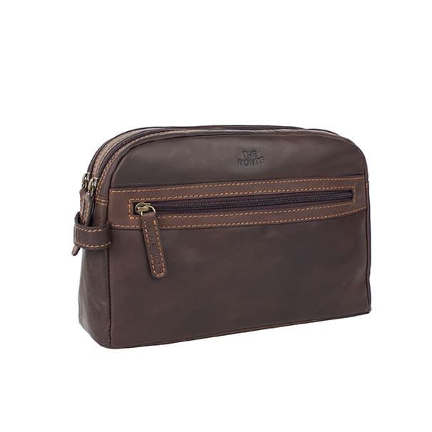 6057206 The Monte toalettmappe brun forside