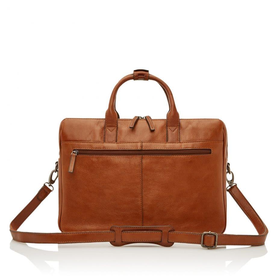 64 9473 Castelijn Beerens Laptop Bag light brown bakside