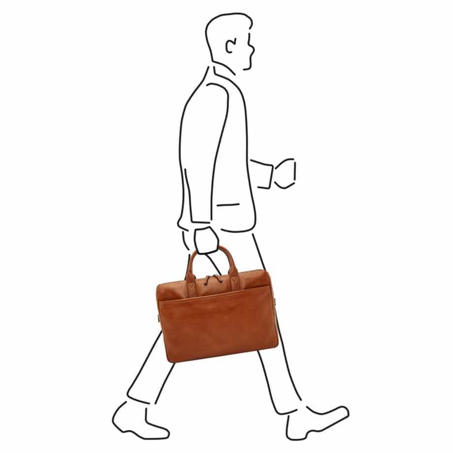 64 9473 Castelijn Beerens Laptop Bag light brown illustrasjon