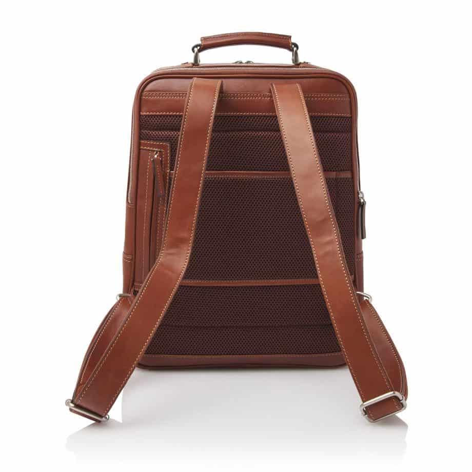 689576 Castelijn Beerens Verona Laptop Backpack 15.6 Light Brown Bakside
