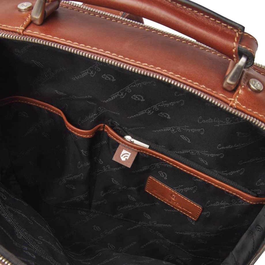 689576 Castelijn Beerens Verona Laptop Backpack 15.6 Light Brown Innside