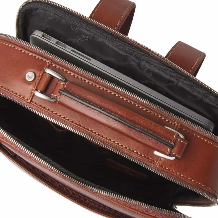 689576 Castelijn Beerens Verona Laptop Backpack 15.6 Light Brown Open