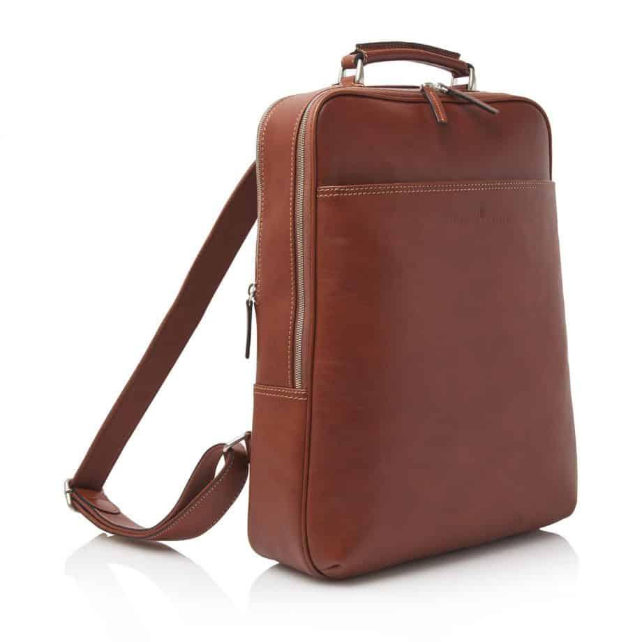 689576 Castelijn Beerens Verona Laptop Backpack 15.6 Light Brown Side