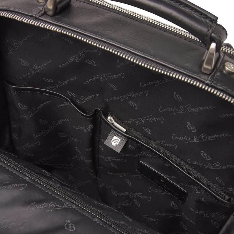 689576 Castelijn Beerens Verona Laptop Backpack 15.6 Sort Innside