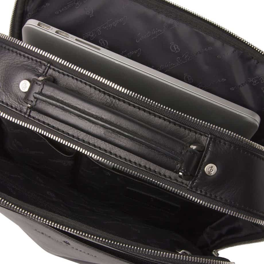 689576 Castelijn Beerens Verona Laptop Backpack 15.6 Sort Open
