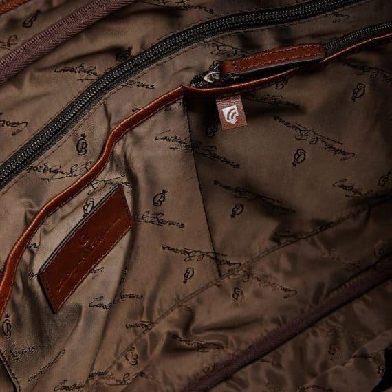 69 9472 Castelijn _ Beerens - Vivo - Laptop Bag 15.6_ RFID - Cognac innside