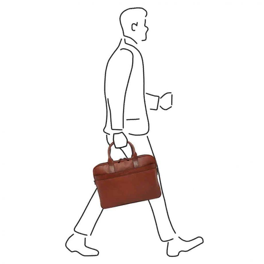 69 9472 Castelijn _ Beerens - Vivo - Laptop Bag 15.6_ RFID - Cognac modell