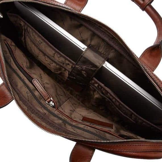 69 9472 Castelijn _ Beerens - Vivo - Laptop Bag 15.6_ RFID - Cognac open