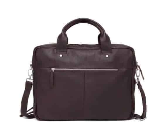 697452 ADAX Kb3 working bag Villads_brown_brun_bakside