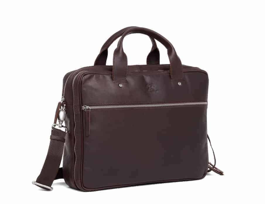 697452 ADAX Kb3 working bag Villads_brown_brun_fra siden.jpg