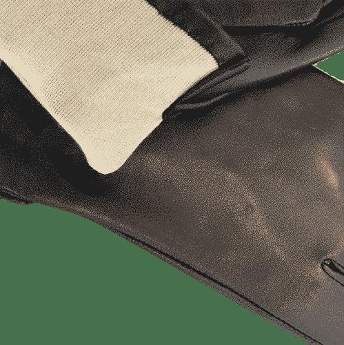 0917504 korte damehansker silkefor - sort - detalj silkefôr