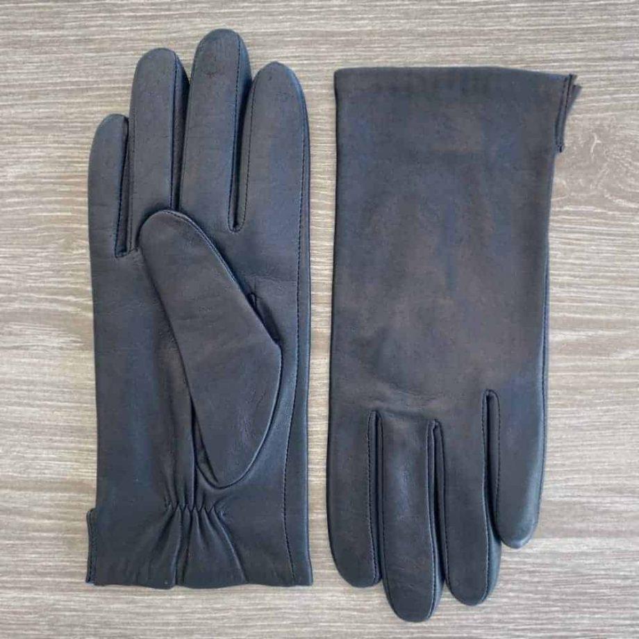 70917504 korte damehansker silkefor - navy - underside og overside
