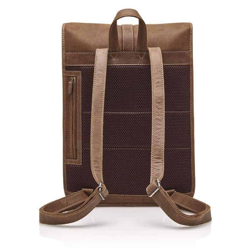 72 9575 Castelijn _ Beerens - Carisma - Laptop Backpack 15.6_ RFID - cognac bakside